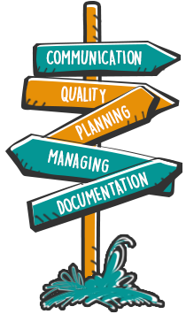 Communication, Quality, Planning, Managing, Documentation